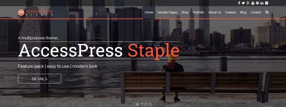 Accesspress Staple - wordpress free themes