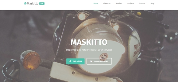 Maskitto Light - free wordpress theme