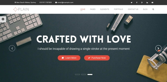 Plain - best wordpress themes