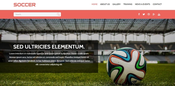 Soccer - bootstrap templates