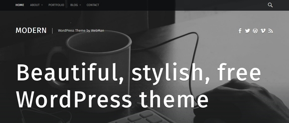 Modern - free wordpress themes