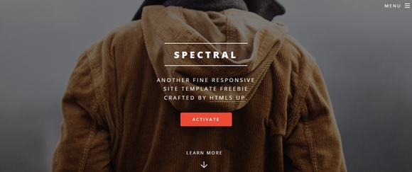 Spectral - responsive html5 templates
