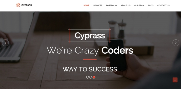 Cyprass - website template