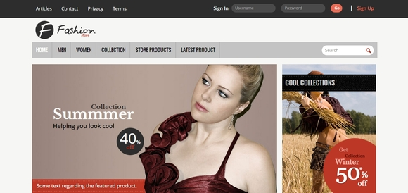 Fashion Store - responsive html5 templates