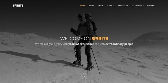 Spirit8 - free bootstrap templates
