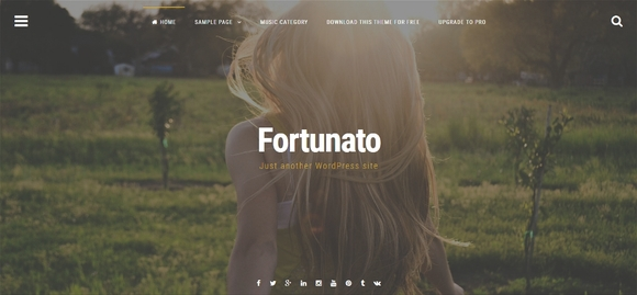 Fortunato - free wordpress themes 2015