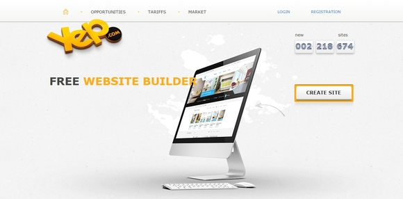 Yep - free online website builder