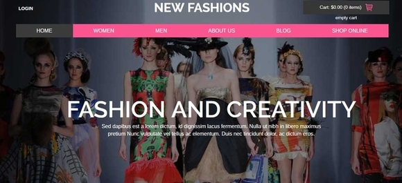 New Fashions - website templates
