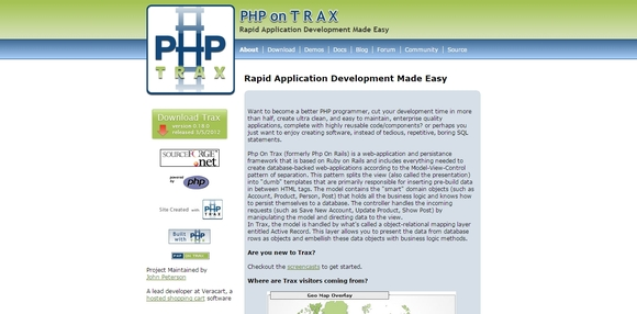 PHP on TRAX - php frameworks