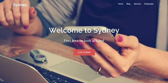 Sydney - free business wordpress themes