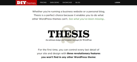 Thesis v.20 - wordpress frameworks