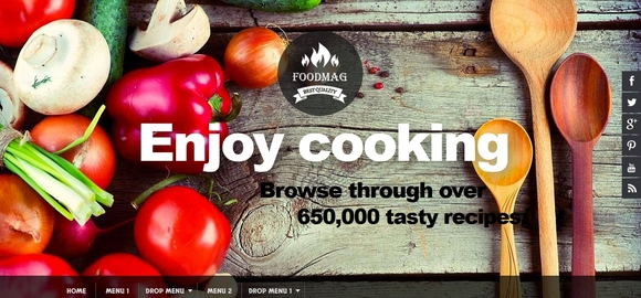 Food Mag - free blogger templates 2015
