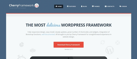 Cheery Framework - best wordpress frameworks