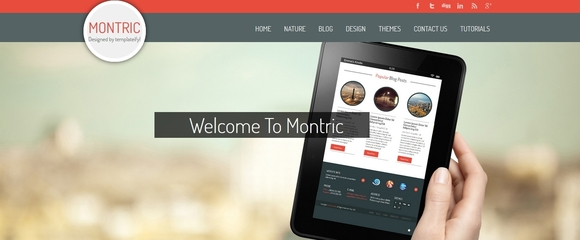 Montric - free blogger templates