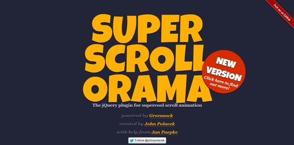 Superscrollorama - jquery parallax scrolling 2015