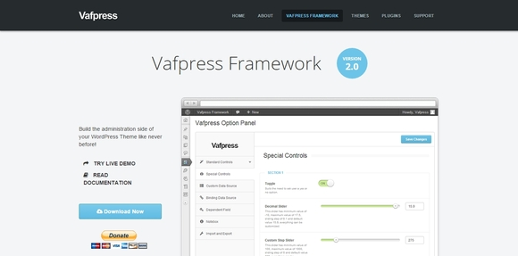 Vafpress Framework - wordpress theme frameworks