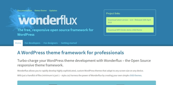 Wonderflux - wordpress frameworks
