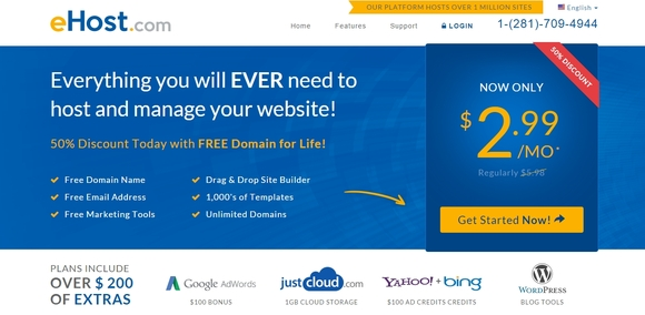 ehost - cheap web hosting services 2015