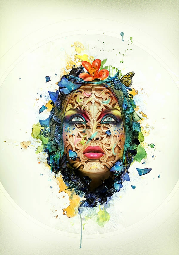 Beautiful Abstract Portrait - adobe photoshop