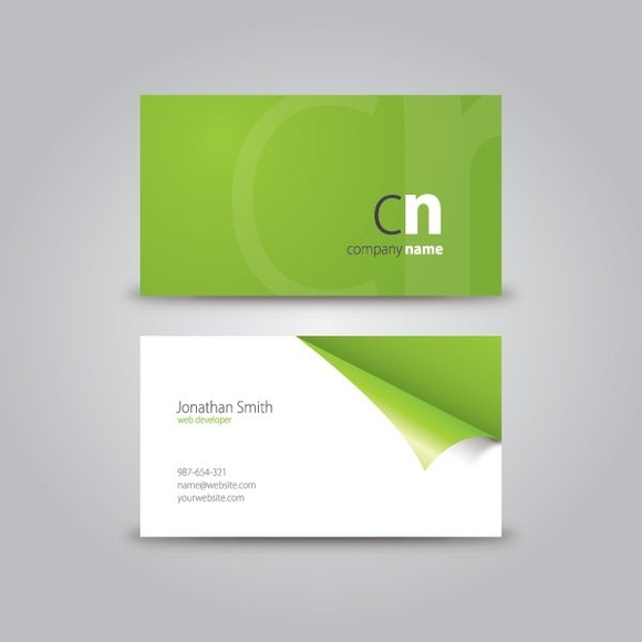 Business card Illustrator templates