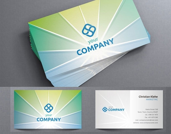 Corporate Business Card Template - free business card templates