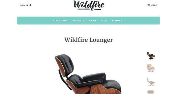 Wildfire - free ecommerce website templates