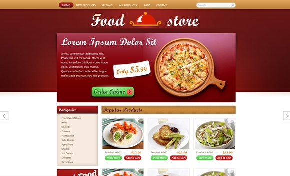 Food Store - ecommerce websites