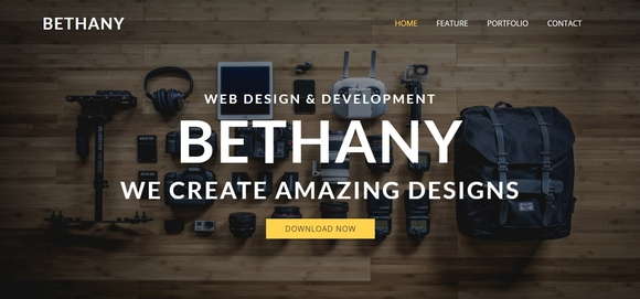 bethany - free bootstrap website template