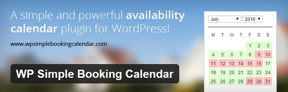 WP Simple Booking Calendar - wordpress calendar plugins 2016