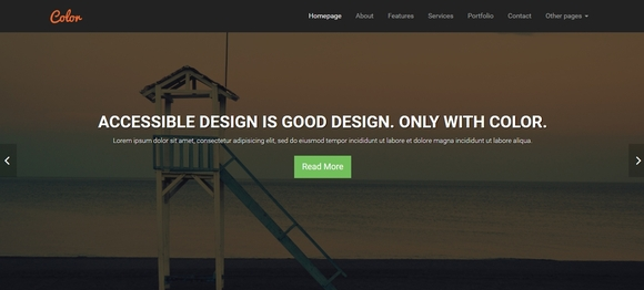color wp - wordpress theme
