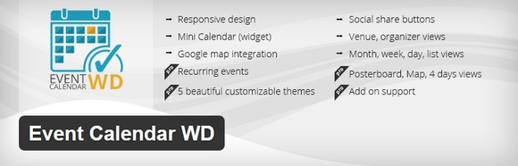 Event Calendar WD - wordpress calendar