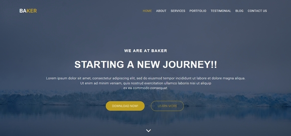 baker - free bootstrap template 2016