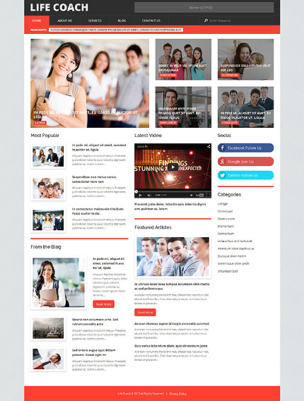 Life Coach WordPress Template