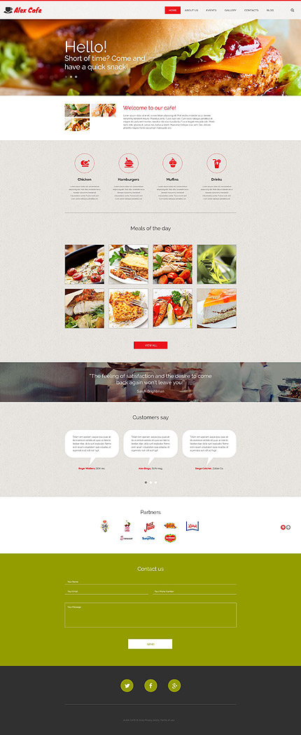 Cafe And Restaurant WordPress Template