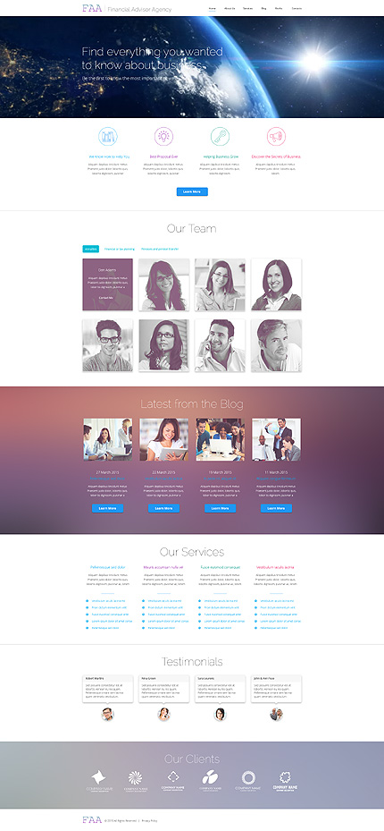 Financial Advisor WP Theme