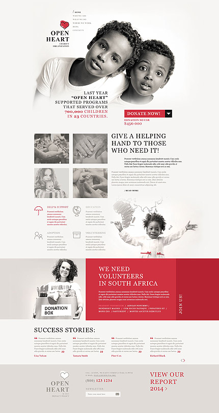 Charity WordPress Template