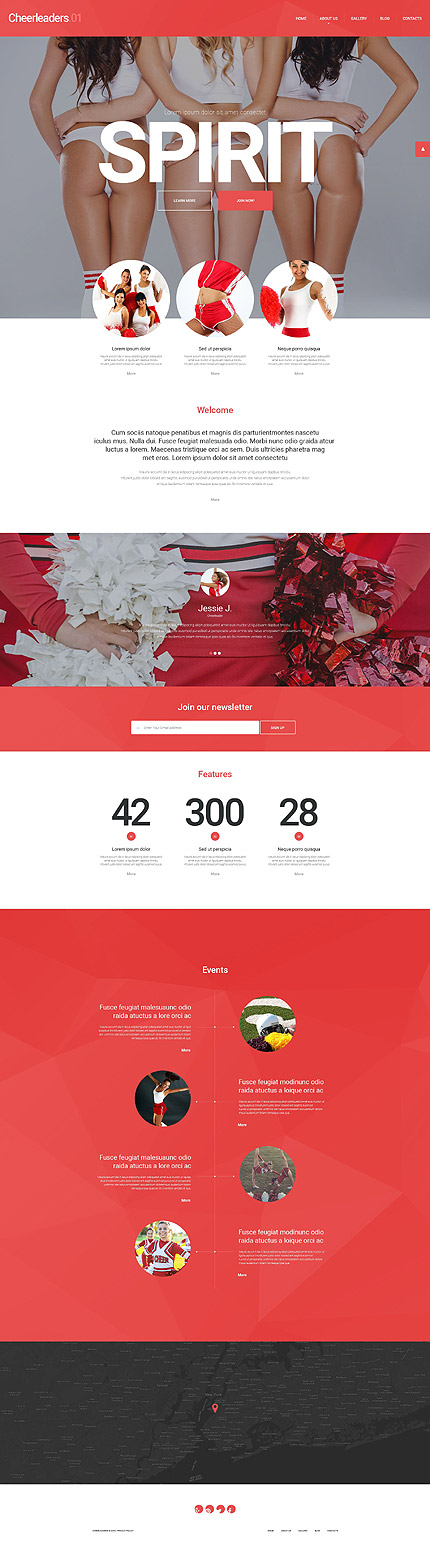 Cheerleading WordPress Theme