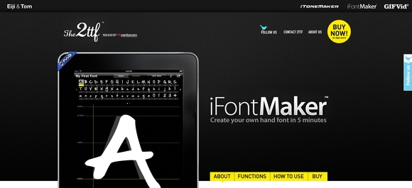 FontStruct is a free typography creation kit with a simple editor that makes it easy for you to quickly and easily craft your own fonts. You can save your creations,