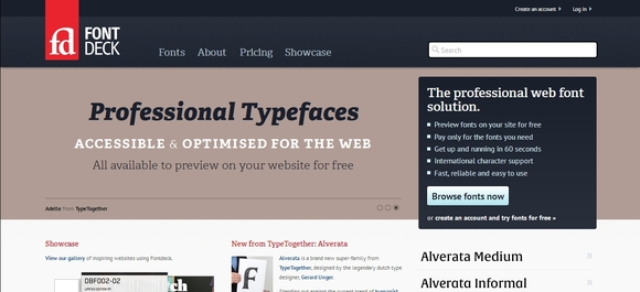 Fontdeck - typography tools for web designers