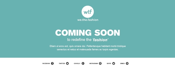 We The Fashion - free under construction templates