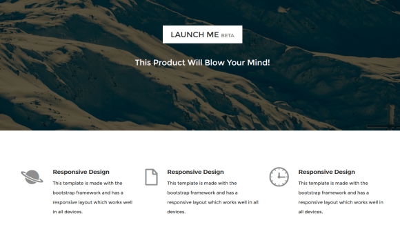 Launch Me Landing Page - Free coming soon pages 2015