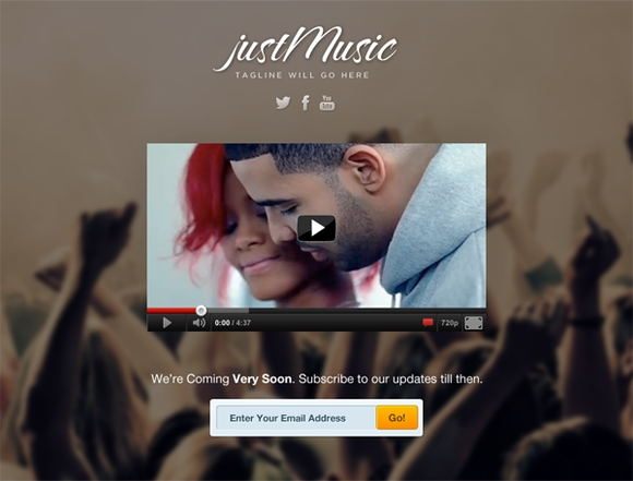 Just Music - Free coming soon pages 2015