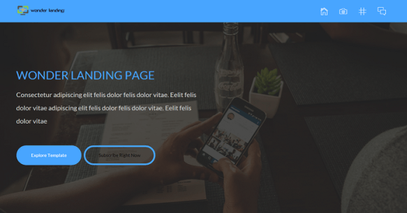 Bootstrap Wonder Landing Page -under construction templates 2015