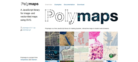 POLYMAPS - data visualization