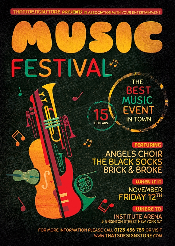 Music Festival Flyer Template - flyer templates
