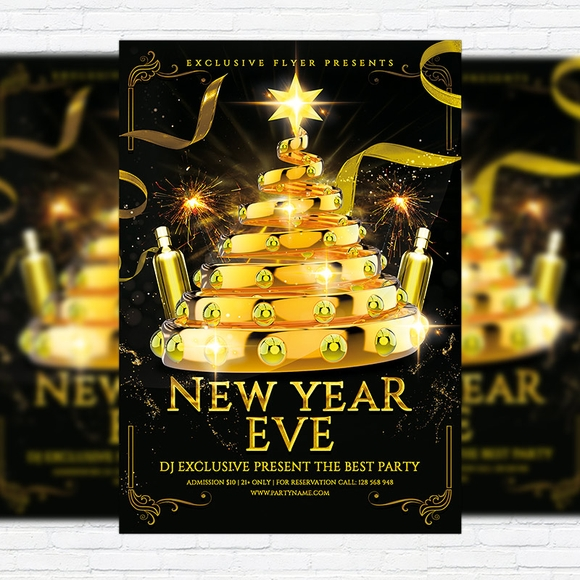 New year eve - party flyer templates
