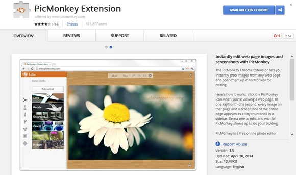PicMonkey - best Google Chrome extensions 2016