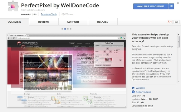 PerfectPixel - Google Chrome extensions