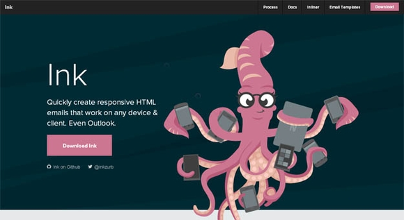 Ink - html5 tools for web development