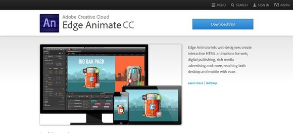 Edge Animate - best html5 tools 2015